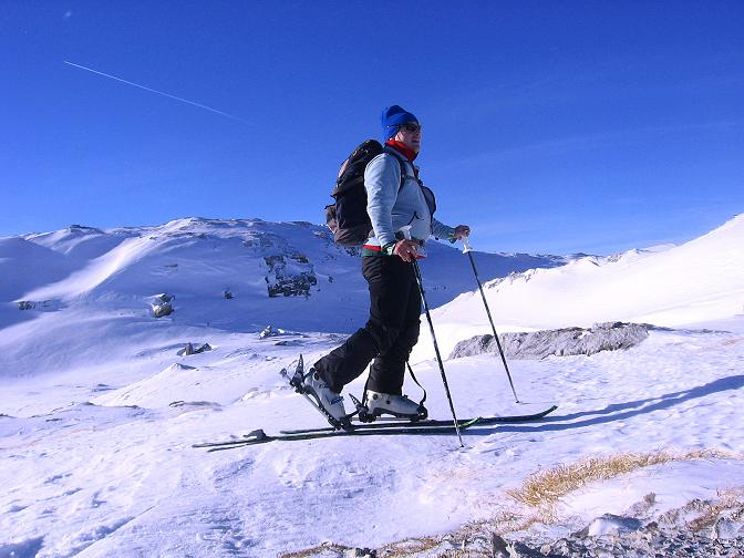 Foto: Andreas Koller / Skitour / Schliererspitze  (2402m) / Übergang zum Gasthofkar / 29.01.2008 01:39:26