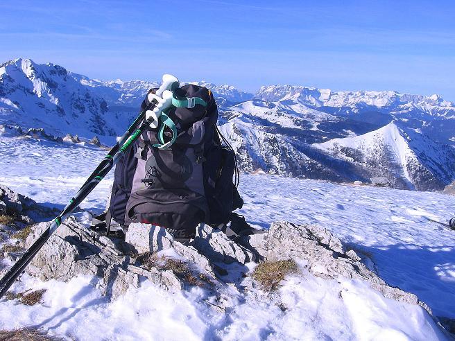 Foto: Andreas Koller / Skitour / Schliererspitze  (2402m) / Blick nach NW zum Tennengebirge (2431 m) und Hochkönigstock (2943 m) / 29.01.2008 01:38:00