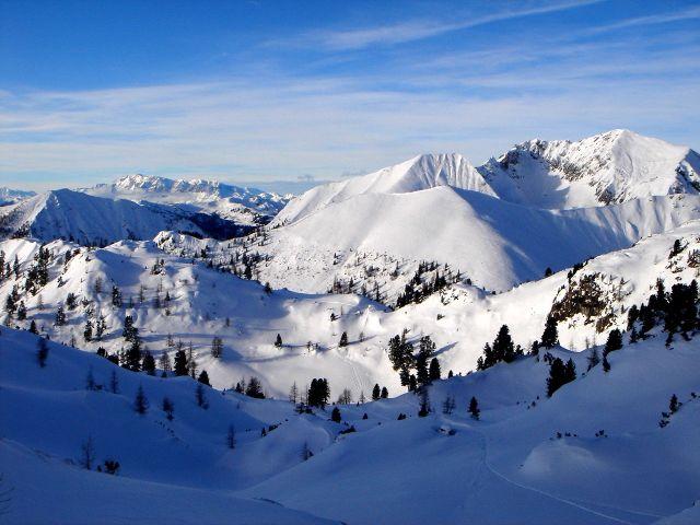 Foto: Manfred Karl / Ski Tour / Kleiner Pleißlingkeil aus dem Flachautal / Im mittleren Teil des Aufstieges / 31.01.2008 17:47:59