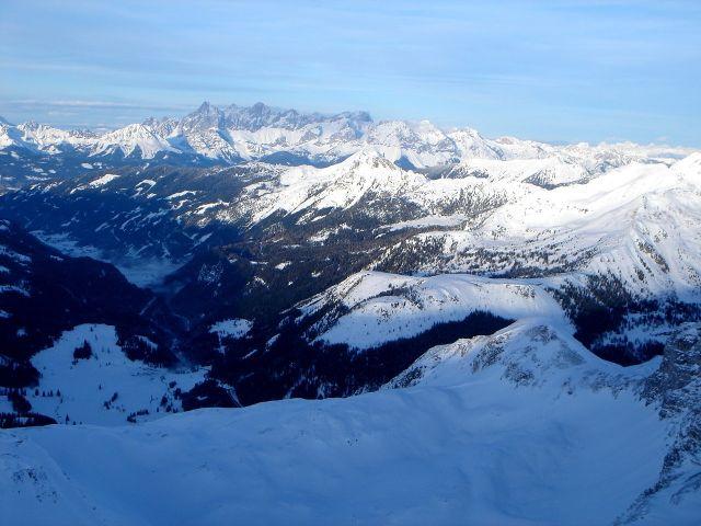 Foto: Manfred Karl / Ski Tour / Kleiner Pleißlingkeil aus dem Flachautal / Schöner Blick auf den Dachstein / 31.01.2008 17:41:05