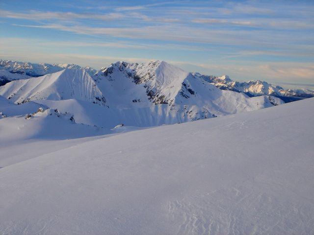 Foto: Manfred Karl / Ski Tour / Kleiner Pleißlingkeil aus dem Flachautal / Steinfeldspitze und Windschaufel im Hintergrund / 31.01.2008 17:34:36