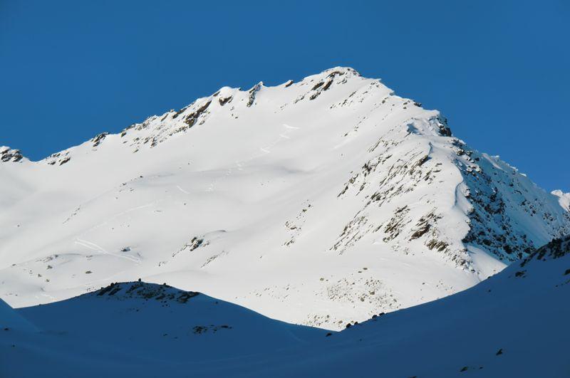 Foto: Thomas Paschinger / Ski Tour / Von Haggen auf die Weitkarspitze / Gipfelhang Weitkarspitze / 12.02.2010 16:06:50