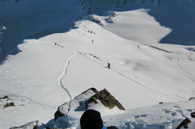 Foto: Thomas Paschinger / Ski Tour / Von Haggen auf die Weitkarspitze / die letzten Meter bis zum Gipfel / 12.02.2010 16:01:05