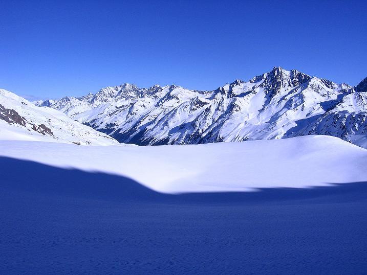 Foto: Andreas Koller / Ski Tour / Kurze Tour auf die Nasse Wand (3046m) / Watzespitze (3532 m) und Vordere Ölgrubenspitze (3452 m) im wilden Kaunergrat / 16.02.2008 14:10:44