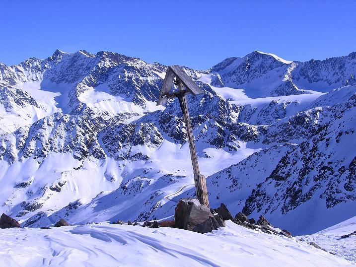 Foto: Andreas Koller / Ski Tour / Kurze Tour auf die Nasse Wand (3046m) / Am Weißseejoch (2960 m) gegen Hochvernagtspitze (3535 m) und Fluchtkogel (3500 m) / 16.02.2008 14:07:45