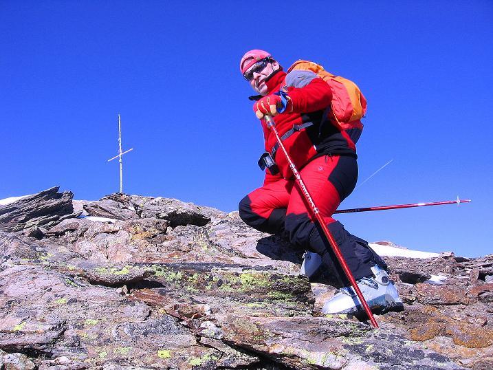 Foto: Andreas Koller / Ski Tour / Kurze Tour auf die Nasse Wand (3046m) / Die letzten Meter zum Gipfel / 16.02.2008 14:06:55