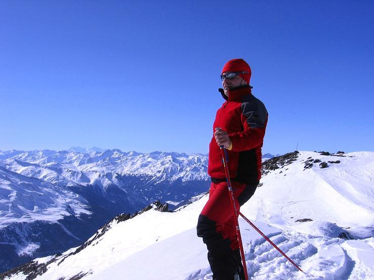 Foto: Andreas Koller / Ski Tour / Kurze Tour auf die Nasse Wand (3046m) / Auf der Nassen Wand mit Blick nach SW / 16.02.2008 14:03:29