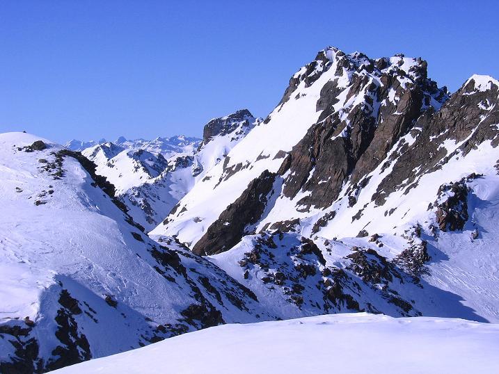 Foto: Andreas Koller / Ski Tour / Kurze Tour auf die Nasse Wand (3046m) / Die Hennesiglspitze (3141 m) / 16.02.2008 14:02:50