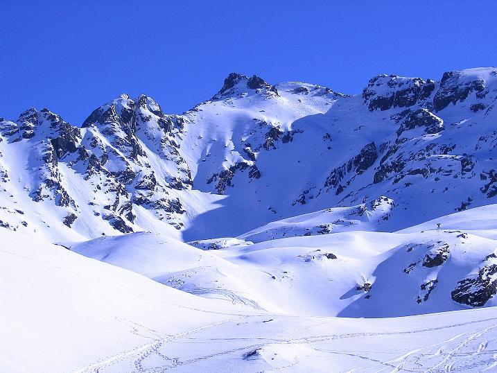 Foto: Andreas Koller / Ski Tour / Pulverschnee am Valzifenzer Grat (2515 m) / Im O der Rotbühel (2853 m) / 17.02.2008 01:03:18