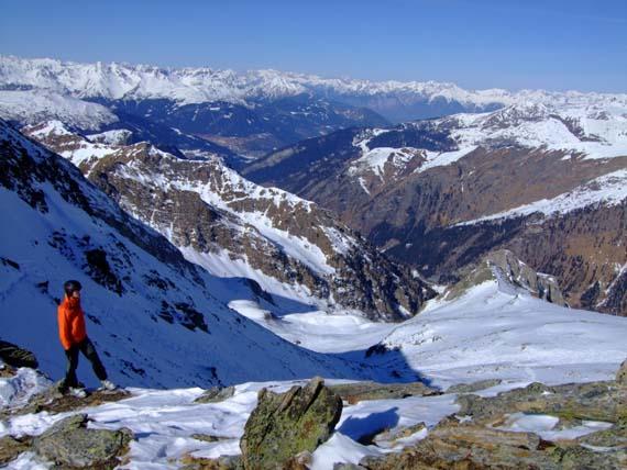 Foto: Bernhard Berger / Ski Tour / Von Innervals auf das Sumpfschartl / Rückblick über den oberen Teil des Anstiegs / 17.02.2008 20:36:19