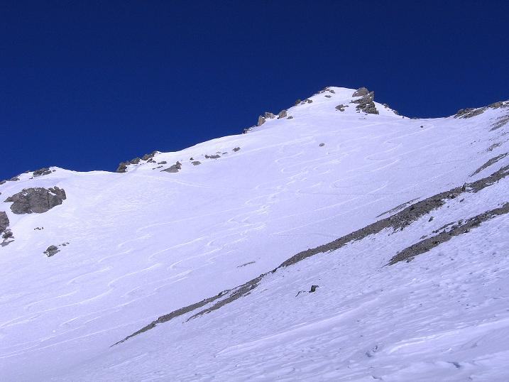 Foto: Andreas Koller / Ski Tour / Piz Vallatscha - unbekannte Tour im Engadin (3021 m) / Der Aufbau des Vorgipfels / 18.02.2008 01:44:27