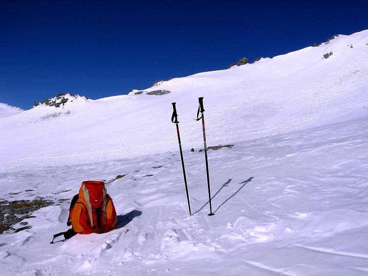 Foto: Andreas Koller / Ski Tour / Piz Vallatscha - unbekannte Tour im Engadin (3021 m) / Rast unterhalb des Gipfels / 18.02.2008 01:44:10