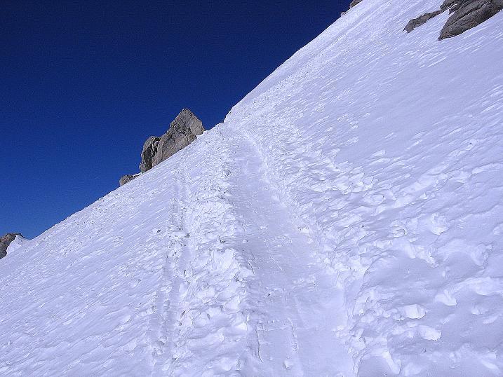 Foto: Andreas Koller / Ski Tour / Piz Vallatscha - unbekannte Tour im Engadin (3021 m) / In der steilen S-Flanke / 18.02.2008 01:42:52