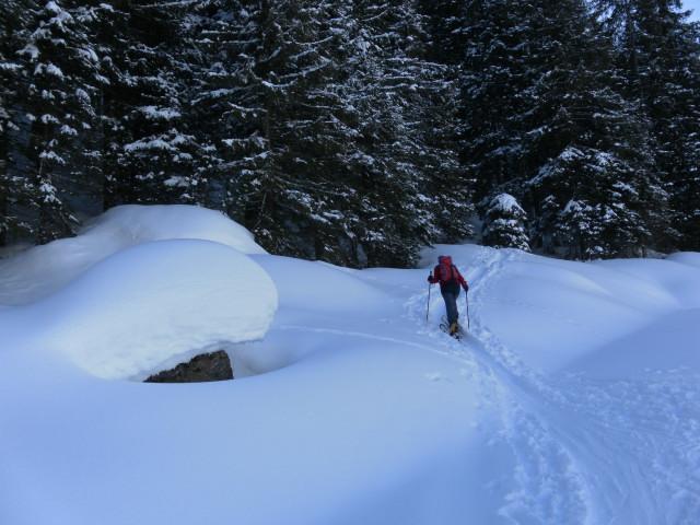 Foto: Wolfgang Lauschensky / Ski Tour / Pallspitze / Einstieg in den Sommerweg / 11.03.2012 13:44:27