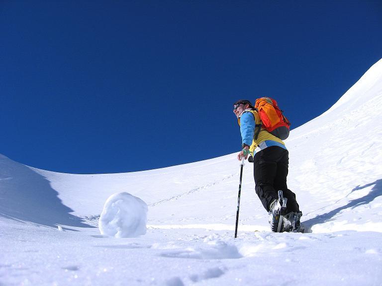 Foto: Andreas Koller / Ski Tour / Gipfelrunde im Fimbertal (3009 m) / Steiler Schlussanstieg auf den Piz da Val Gronda / 19.02.2008 23:49:07