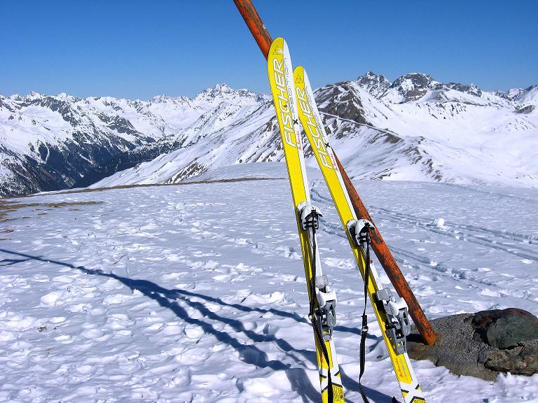 Foto: Andreas Koller / Ski Tour / Gipfelrunde im Fimbertal (3009 m) / Am Gipfel des Piz da Val Gronda / 19.02.2008 23:45:42
