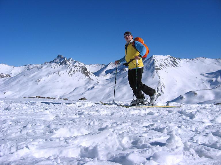Foto: Andreas Koller / Ski Tour / Gipfelrunde im Fimbertal (3009 m) / Anstieg über die Mulde unter dem Larainferner Joch / 19.02.2008 23:40:42