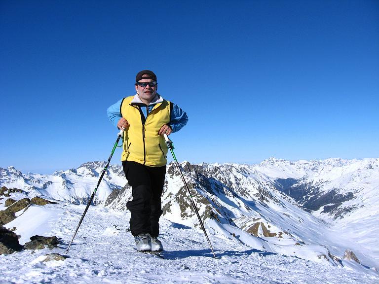 Foto: Andreas Koller / Ski Tour / Gipfelrunde im Fimbertal (3009 m) / Auf der Larainfernerspitze mit Blick nach NW / 19.02.2008 23:35:46