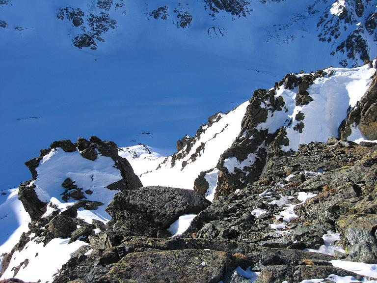 Foto: Andreas Koller / Ski Tour / Gipfelrunde im Fimbertal (3009 m) / Der Blick vom Piz Larain (Larainfernerspitze) auf den Larainferner / 19.02.2008 23:34:42