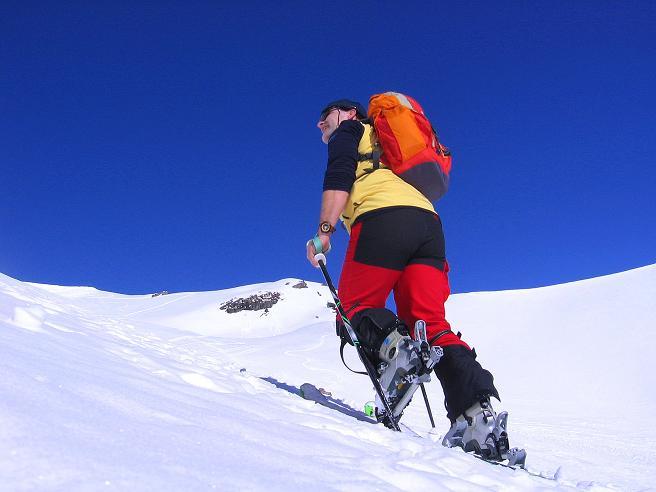 Foto: Andreas Koller / Ski Tour / Piz Minschun - Aussichtsloge hoch über dem Engadin (3068 m) / Aufstieg im Kar / 21.02.2008 20:07:55