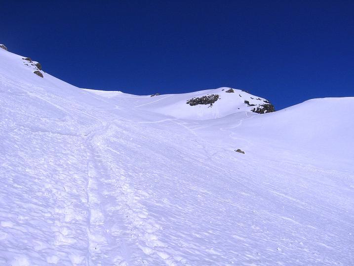 Foto: Andreas Koller / Ski Tour / Piz Minschun - Aussichtsloge hoch über dem Engadin (3068 m) / Der obere Teil des Kars / 21.02.2008 20:07:41