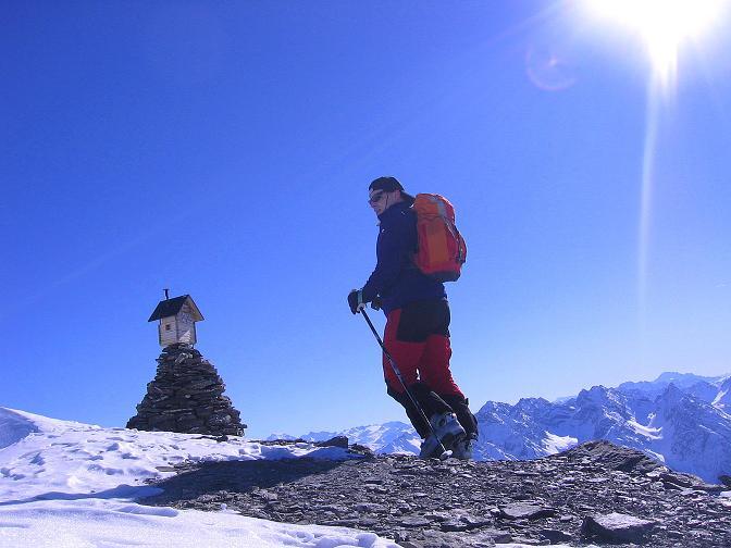 Foto: Andreas Koller / Ski Tour / Piz Minschun - Aussichtsloge hoch über dem Engadin (3068 m) / Die letzten Meter zum Gipfel / 21.02.2008 20:01:28