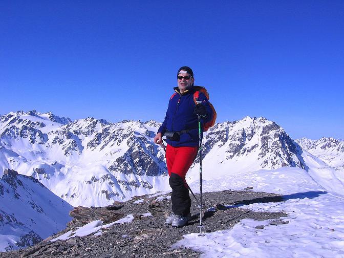 Foto: Andreas Koller / Ski Tour / Piz Minschun - Aussichtsloge hoch über dem Engadin (3068 m) / Mitten in der Silvreatta am Piz Minschun / 21.02.2008 19:59:52