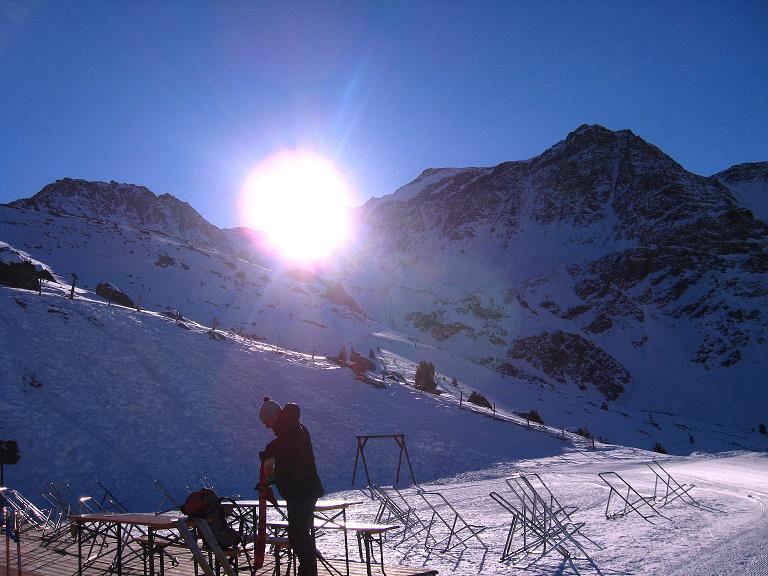 Foto: Andreas Koller / Ski Tour / Durch das Rosimtal auf die Schildspitze (3461m) / Gegenlicht auf der Kanzel / 22.02.2008 02:26:35