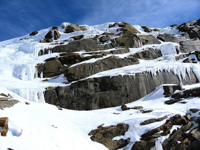 Foto: Andreas Koller / Ski Tour / Durch das Rosimtal auf die Schildspitze (3461m) / Eiskaskaden im Rosimtal / 22.02.2008 02:23:24