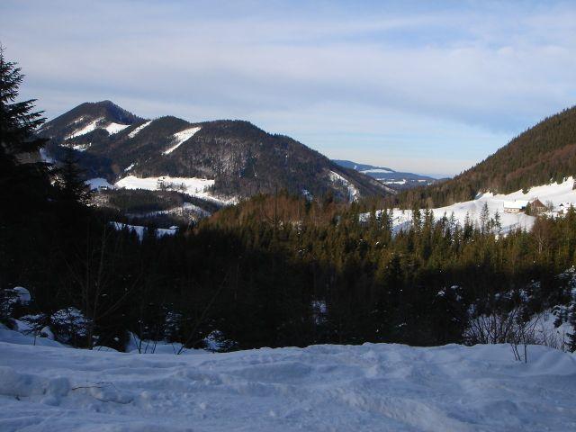 Foto: Manfred Karl / Ski Tour / Faistenauer Schafberg (1559m) / Blick zum Filbling / 22.02.2008 16:13:05