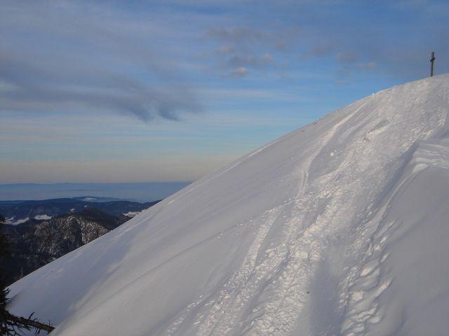 Foto: Manfred Karl / Ski Tour / Faistenauer Schafberg (1559m) / Die letzten Meter / 22.02.2008 16:10:03