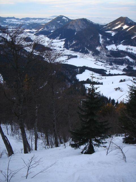 Foto: Manfred Karl / Ski Tour / Faistenauer Schafberg (1559m) / Einfahrt Nordwestrinne / 22.02.2008 16:08:19