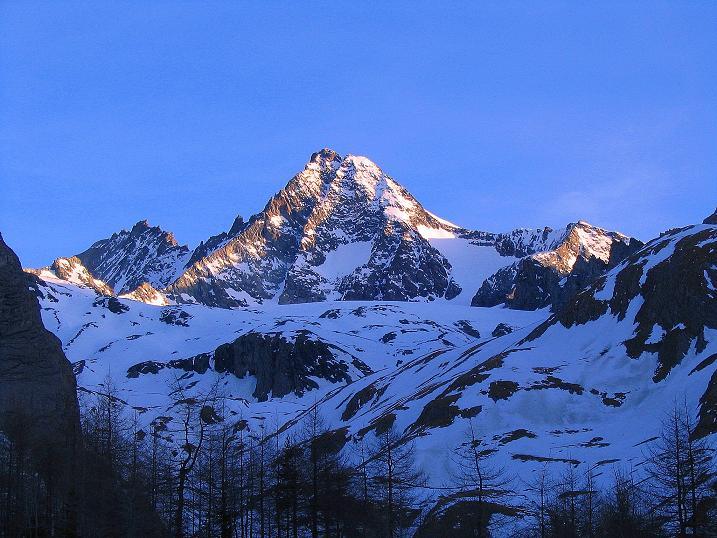 Foto: Andreas Koller / Ski Tour / Im Banne des Großglockners auf den Teufelskamp (3511m) / Großglockner (3798 m) im Morgenlicht / 26.02.2008 21:36:19