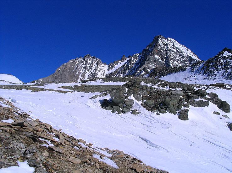 Foto: Andreas Koller / Ski Tour / Im Banne des Großglockners auf den Teufelskamp (3511m) / Großglockner (3798 m) und Glocknerwand (3722 m) / 26.02.2008 21:32:40
