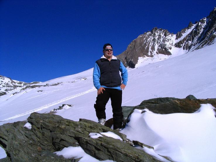 Foto: Andreas Koller / Ski Tour / Im Banne des Großglockners auf den Teufelskamp (3511m) / Auf der Schere mit Teischnitzkees und Glocknerwand (3722 m) / 26.02.2008 21:31:36