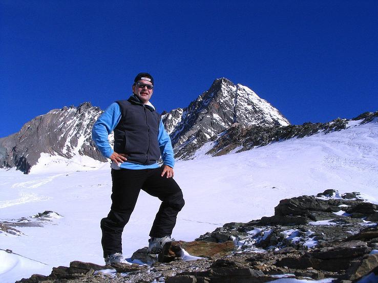 Foto: Andreas Koller / Ski Tour / Im Banne des Großglockners auf den Teufelskamp (3511m) / Rast bei der Schere mit Blick auf Großglockner (3798 m) und Glocknerwand (3722 m) / 26.02.2008 21:31:08