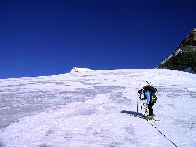 Foto: Andreas Koller / Ski Tour / Im Banne des Großglockners auf den Teufelskamp (3511m) / In einer steileren Passage des Teischnitzkeeses / 26.02.2008 21:23:30
