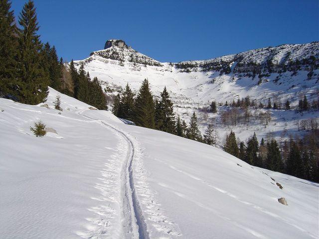 Foto: Manfred Karl / Ski Tour / Über den Tennerwinkel auf den Schmittenstein / Aufstieg in den Tennerwinkel / 29.02.2008 16:39:58