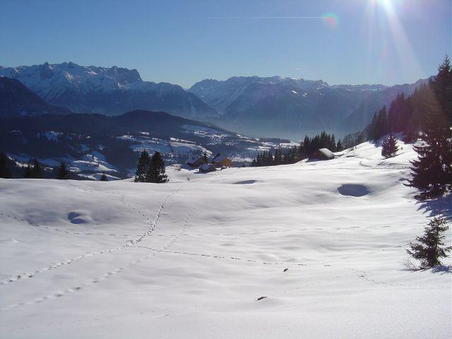 Foto: Manfred Karl / Ski Tour / Über den Tennerwinkel auf den Schmittenstein / Oberhalb der Tenneralm / 29.02.2008 16:39:29