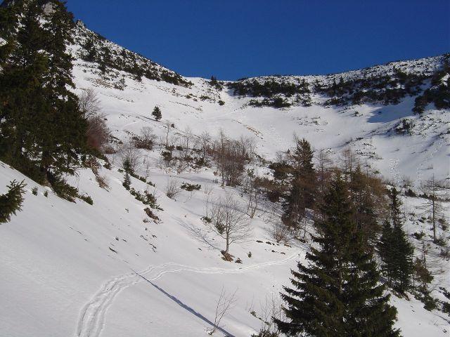 Foto: Manfred Karl / Ski Tour / Über den Tennerwinkel auf den Schmittenstein / Aufstieg im Kar / 29.02.2008 16:39:14