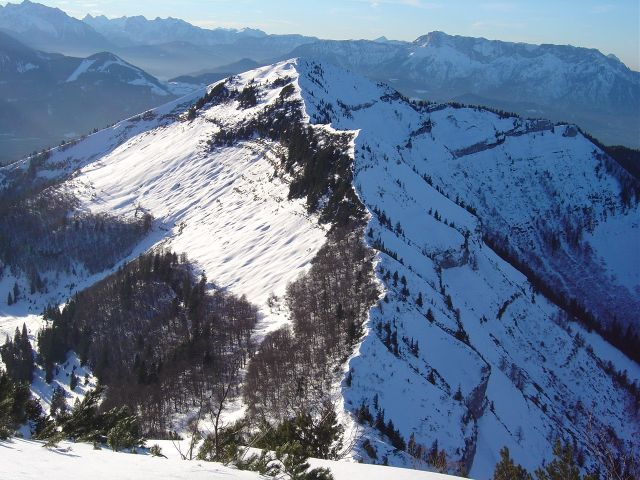 Foto: Manfred Karl / Ski Tour / Über den Tennerwinkel auf den Schmittenstein / Verbindungsgrat zum Schlenken / 29.02.2008 16:38:54