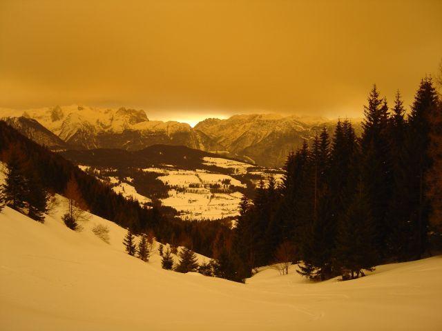 Foto: Manfred Karl / Ski Tour / Über den Tennerwinkel auf den Schmittenstein / Tennengebirge und Pass Lueg / 29.02.2008 16:32:39