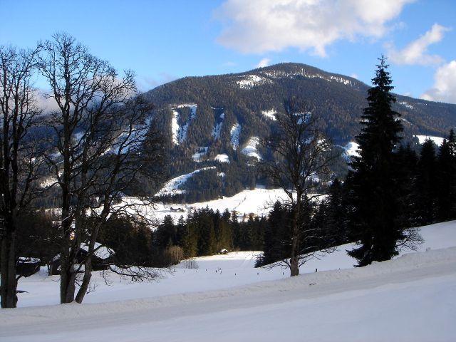 Foto: Manfred Karl / Ski Tour / Von St. Martin auf den Korein / Bei der Abzweigung des Sommerweges von der Schipiste / 14.03.2008 07:44:36