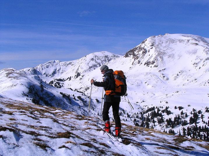 Foto: Andreas Koller / Ski Tour / Von der Turrach auf das Gregerlnock (2296m) / Blick vom Hirschenkogel zum Grögerlenock / 16.03.2008 16:39:01