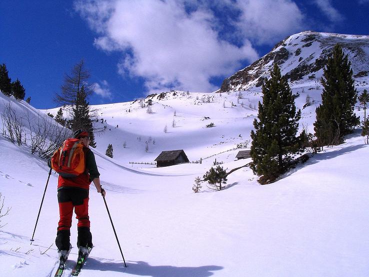 Foto: Andreas Koller / Ski Tour / Von der Turrach auf das Gregerlnock (2296m) / Aufstieg zur Pregathütte / 16.03.2008 16:38:10