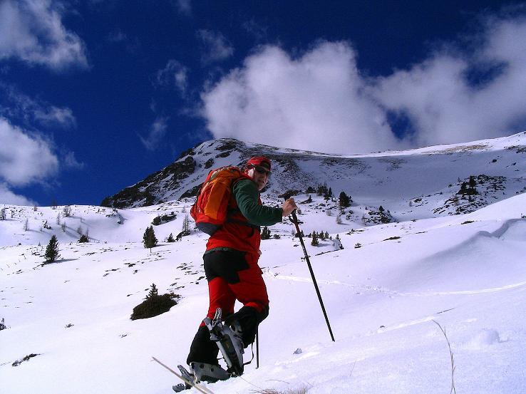 Foto: Andreas Koller / Ski Tour / Von der Turrach auf das Gregerlnock (2296m) / Aufstieg oberhalb der Pregathütte / 16.03.2008 16:36:57