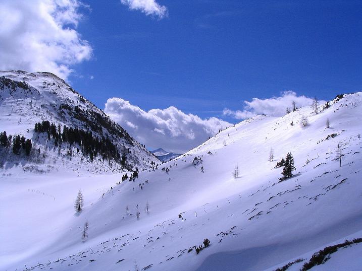 Foto: Andreas Koller / Ski Tour / Von der Turrach auf das Gregerlnock (2296m) / Blick über das Kar der Pregathütte nach S / 16.03.2008 16:36:42