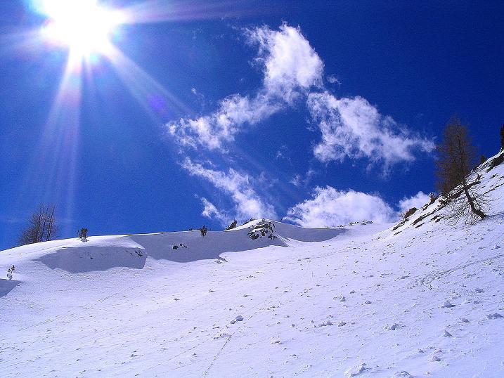 Foto: Andreas Koller / Ski Tour / Von der Turrach auf das Gregerlnock (2296m) / Steilere Passagen in der O-Flanke / 16.03.2008 16:35:45