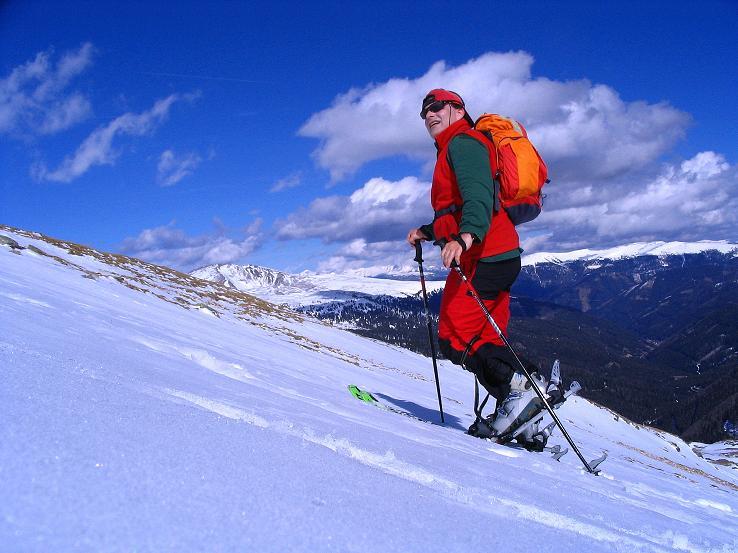 Foto: Andreas Koller / Ski Tour / Von der Turrach auf das Gregerlnock (2296m) / Aufstieg im oberen Teil der O-Flanke / 16.03.2008 16:34:54