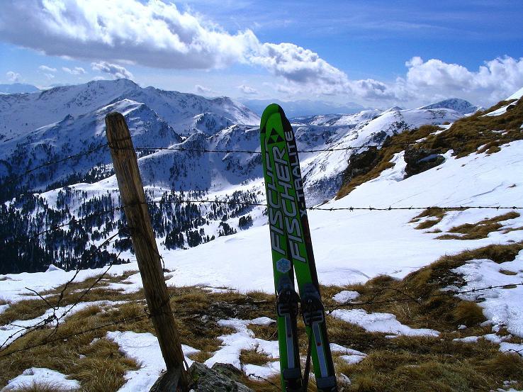 Foto: Andreas Koller / Ski Tour / Von der Turrach auf das Gregerlnock (2296m) / Kurz unterhalb des Gipfels mit Blick nach S / 16.03.2008 16:32:02